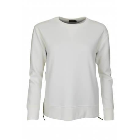 Sweat avec zip latéral Ralph Lauren blanc pour femme